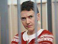 Украинская летчица Надежда Савченко, обвиняемая в причастности к убийству российских журналистов