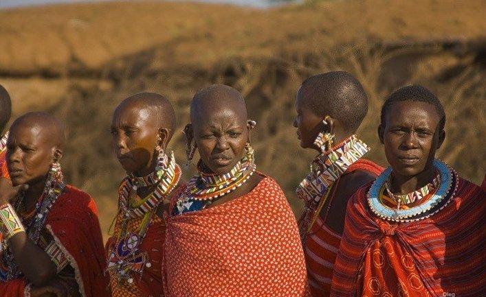 Живущие у Килиманджаро - кенийское племя масаи.