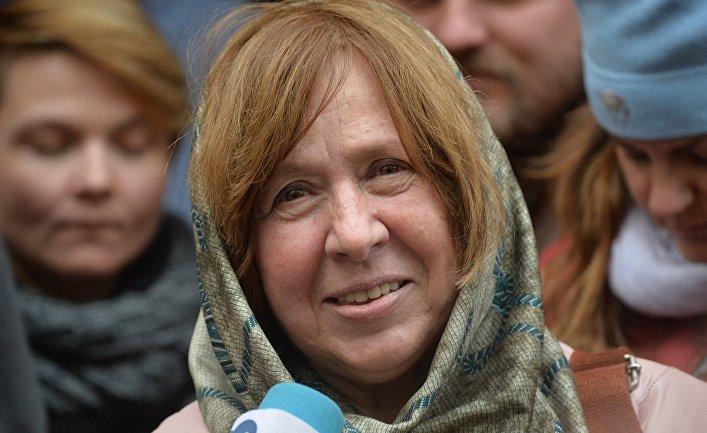 Белорусская писательница Светлана Алексиевич получила Нобелевскую премию по литературе