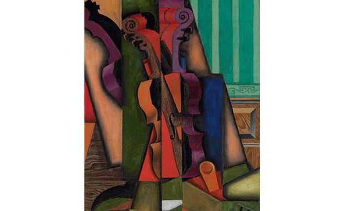 """Кубистическая композиция Хуана Гриса """"Скрипка и гитара"""", 1913 год"""