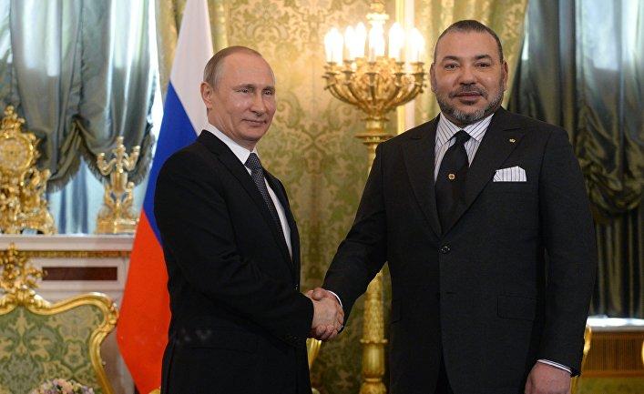 Встреча президента РФ В. Путина с королем Марокко Мухаммедом VI