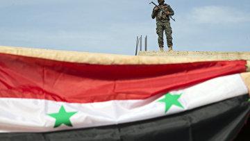 Сирийский солдат в Сирии