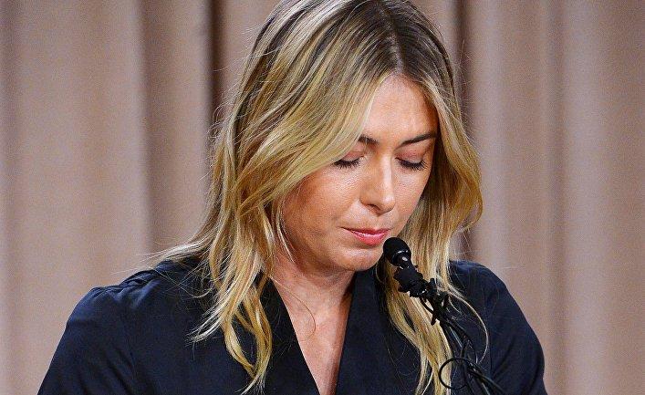 Мария Шарапова на пресс-конференции в Калифорнии