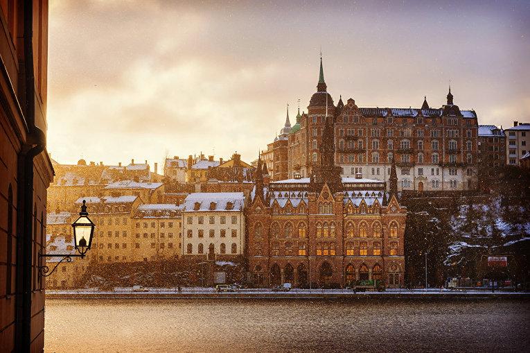 Зимнее утро в Стокгольме