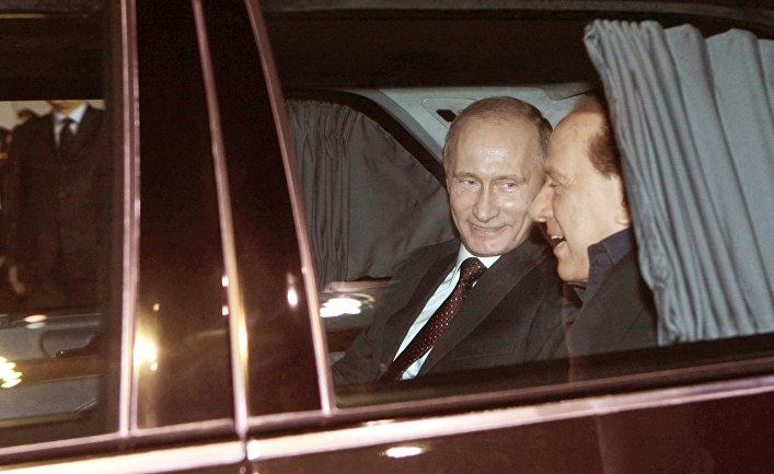 Встреча Владимира Путина в аэропорту Милана