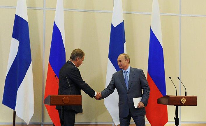 В.Путин встретился с С.Ниинисте