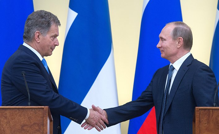 Президент РФ В. Путин встретился с президентом Финляндии С. Ниинистё