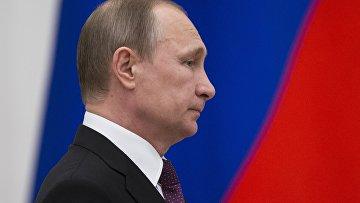 Президент России Владимир Путин на церемонии награждения в Кремле