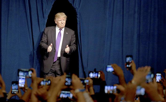 Кандидат в президенты от Республиканской партии Дональд Трамп в Лас-Вегасе, Невада, США