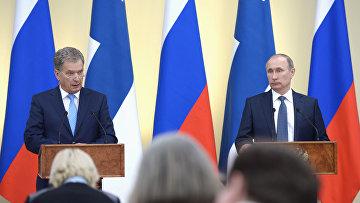 Президент РФ Владимир Путин встретился с президентом Финляндии Саули Ниинистё