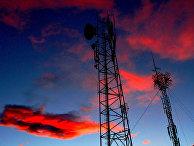 Радиоантенны на закате