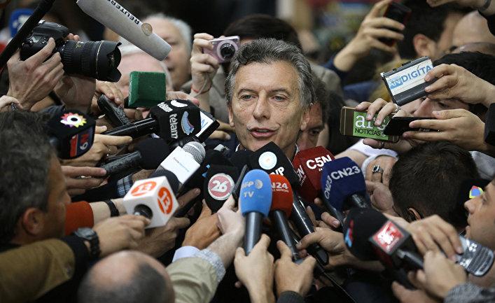 Кандидат в президенты Аргентины Маурисио Макри