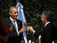 Президент США Барак Обама и президент Аргентины Маурисио Макри