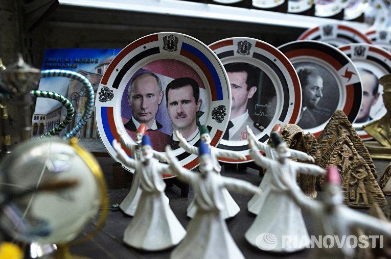 Сувениры на рынке Хамидия в Дамаске