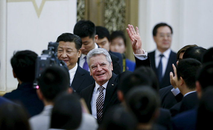 Президент ФРГ Йоахим Гаук и председатель КНР Си Цзиньпин