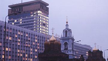 """Вид на гостиницу """"Россия"""""""