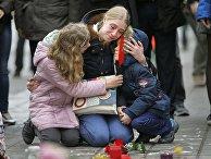 Мемориал в память о жертвах терактов в Брюсселе, Бельгия