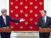 Пресс-конференция главы МИД РФ С. Лаврова и госсекретаря США Д. Керри в Москве
