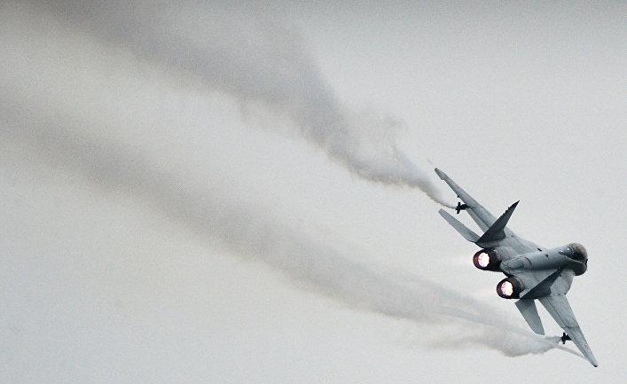 Истребитель МиГ-35 на Международном авиационно-космическом салоне МАКС-2013 в Жуковском