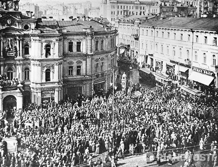 Манифестация на улицах Киева