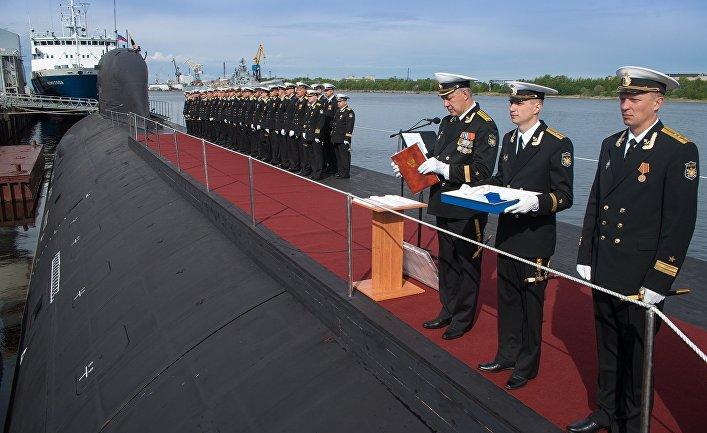 Первая многоцелевая атомная подлодка К-560 «Северодвинск» проекта «Ясень» принята в состав ВМФ России