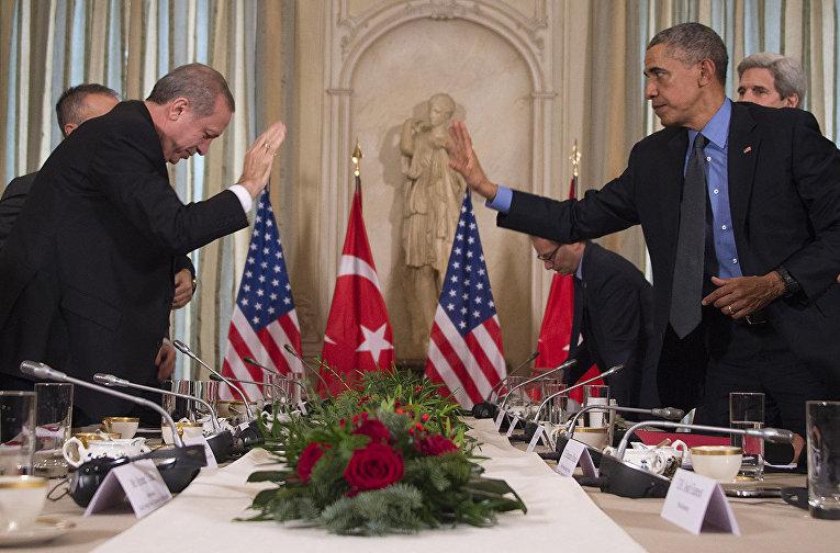 Президент США Барак Обама и президент Турции Тайип Эрдоган