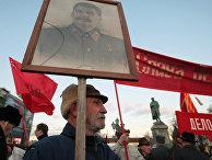 Акции коммунистов в Москве в честь 91-й годовщины Октября