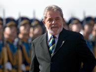 Бывший президент Бразилии Луис Инасио Лула да Силва в аэропорту «Внуково»