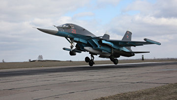 Вылет самолетов ВКС с авиабазы Хмеймим в пункты постоянного базирования на территории России