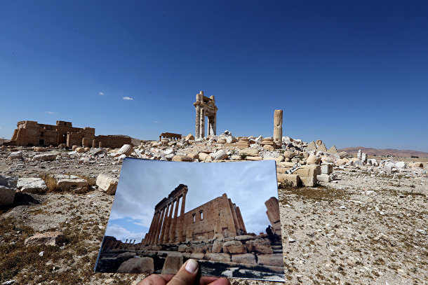 Пальмира в 2014 и 2016