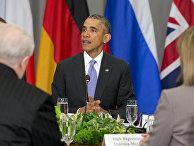 Президент США Барак Обама выступает на саммите по ядерной безопасности в Вашингтоне
