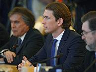 Министр иностранных дел Австрии Себастьян Курц во время встречи в Москве