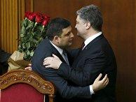 Президент Украины Петр Порошенко и новый премьер-министр Владимир Гройсман