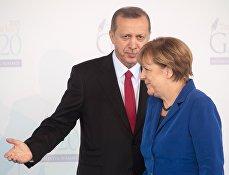 Президент Турции Тайип Эрдоган и Федеральный канцлер Германии Ангела Меркель