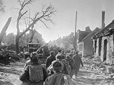 По восточной Пруссии идут советские части
