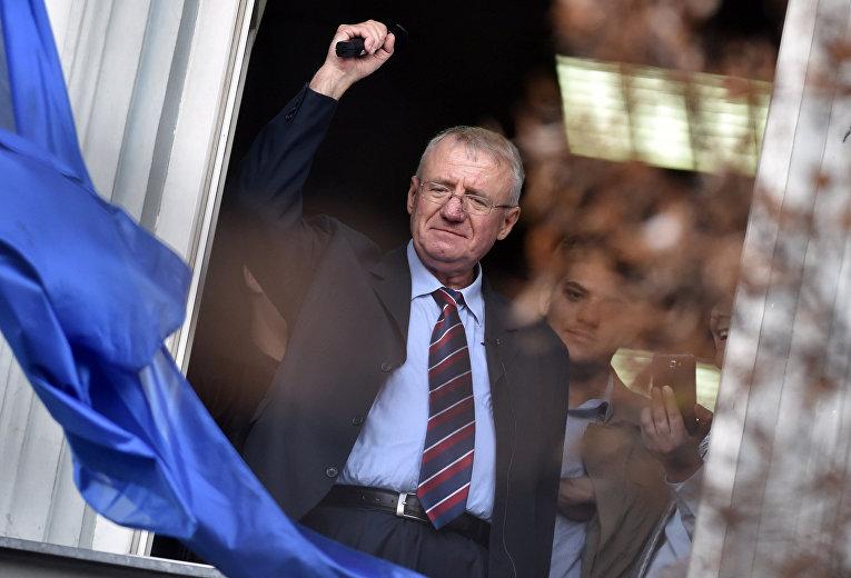 Сербский политик-националист, лидер Сербской радикальной партии Воислав Шешель