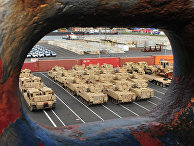 Американская военная техника ждет отправку в Европу