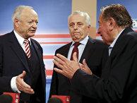 Кандидаты в президенты Андреас Коль, Рудольф Хундсторфер и Ричард Лугнер
