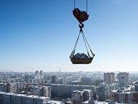 Строительство многоэтажного жилого дома на улице Жукова в Омске