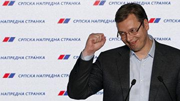 Премьер-министр Сербии и лидер Сербской прогрессивной партии Александар Вучич