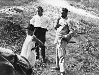 И.В.Сталин, С.М.Киров и дочь Сталина Светлана