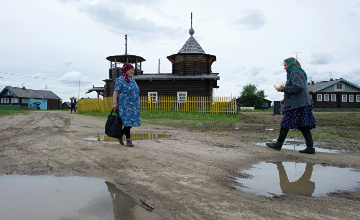 Жительницы деревни Кривой Наволок Республики Коми