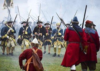 Реконструкция сражения под Нарвой в Северной войне