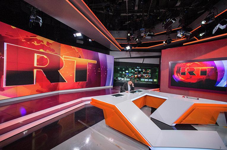Ньюсрум телеканала Russia Today на английском языке