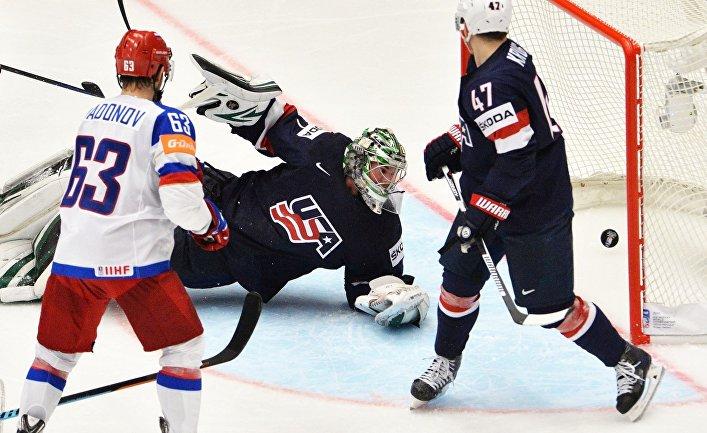 Матч Россия - США Чемпионата мира по хоккею 2015 года
