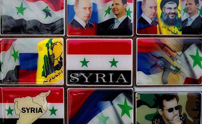 Магниты на холодильник с изображениями Владимира Путина, Башара Асада и Шейха Хасана Насраллы