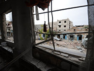 Ситуация в Помещения разрушенной мечети на одной из улиц Пальмиры
