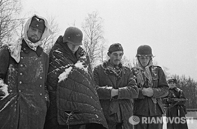 Пленные немцы под Москвой, декабрь 1941 года