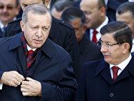 Президент Турции Тайип Эрдоган и премьер-министр Турции Ахмет Давутоглу