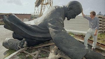 Снесенный памятник Ленину в Вильнюсе